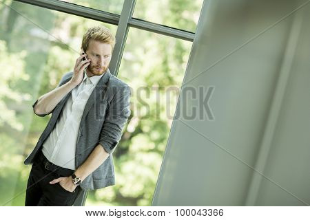 Young Man With Mobile Phone