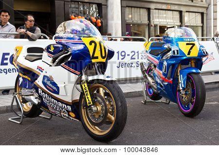 Moto GP bikes