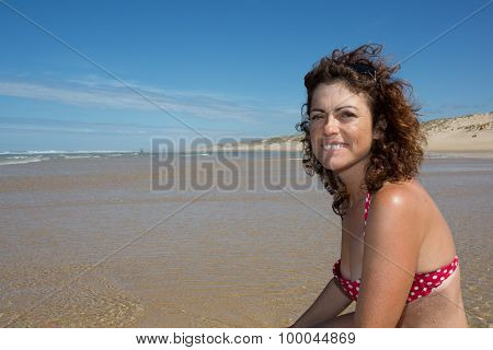 Portrait Of Smiling Middle Age Woman
