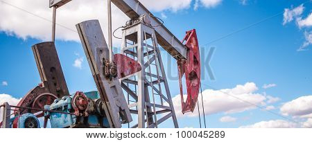 Oil Pump In Outdoors Field
