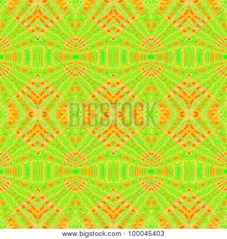 Seamless diamond pattern green orange