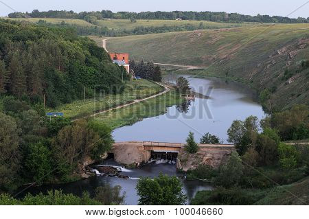 Old Dam On Vorgol River, Yelets, Russia