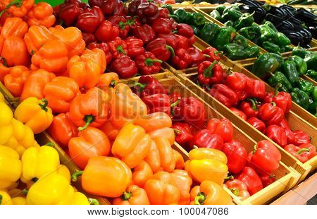 Vegetables in grocery store