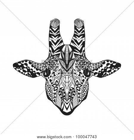 Zentangle stylized lemur. Sketch for tattoo or t-shirt.