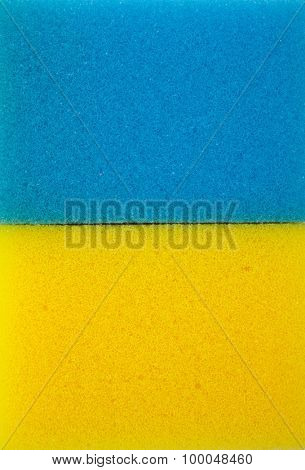 Sponge background. Yellow and blue