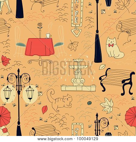 Seamless Pattern In Draft Style