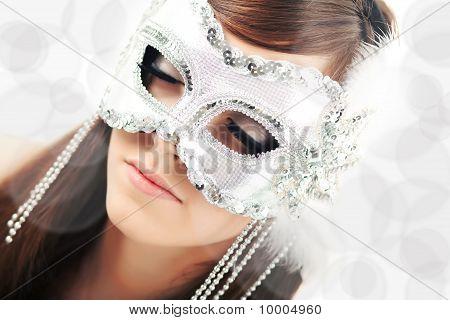Closeup Of Young Beautiful Woman