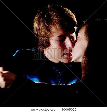 Kissing Teenagers