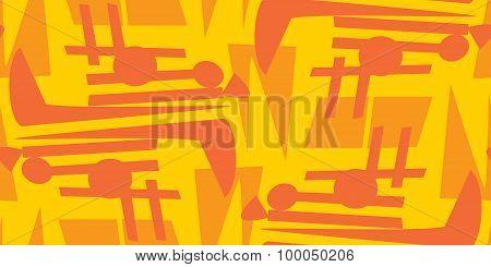 Chaotic Orange Seamless Patterns