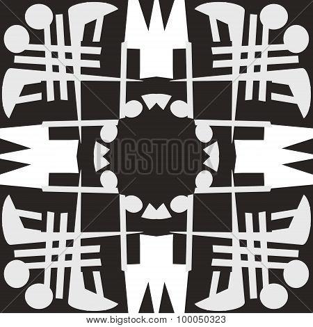 White Symmetrical Tile Patterns