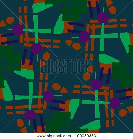 Abstract Seamless Tile Pattern
