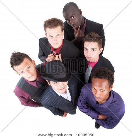 Young Trendy Interracial Businessmen