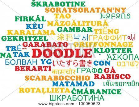 Background concept wordcloud multilanguage international many language illustration of doodle