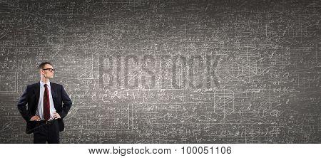 Man at blackboard