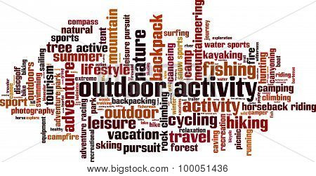 Outdor Activity Word Cloud
