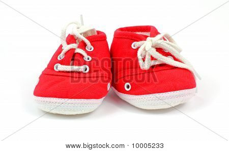 Front View Baby High Top Sneakers