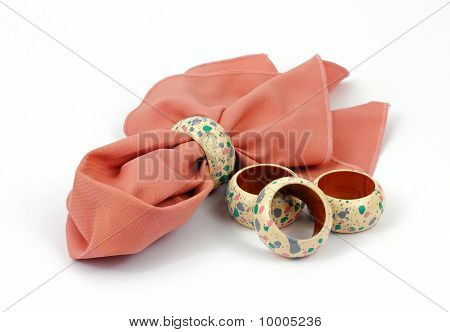 Napkin And Rings Delicate Design