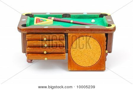Pool Table Chest And Coaster