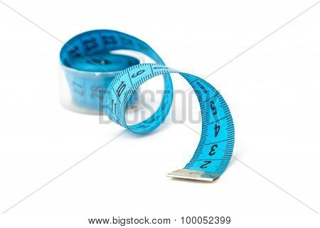 Image blue measuring untwisted tape in a box