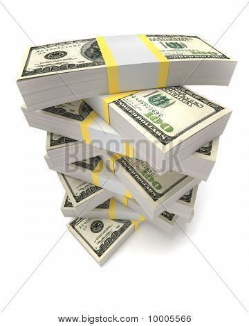 Stacks Of Dollars