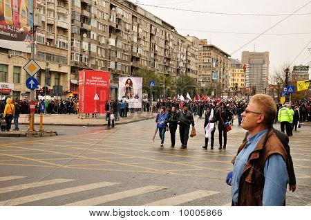 Protest Bucharest Romania