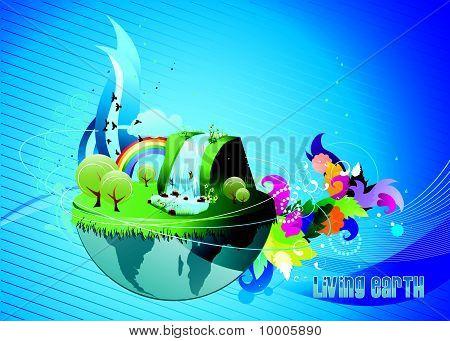 earth paradise vector
