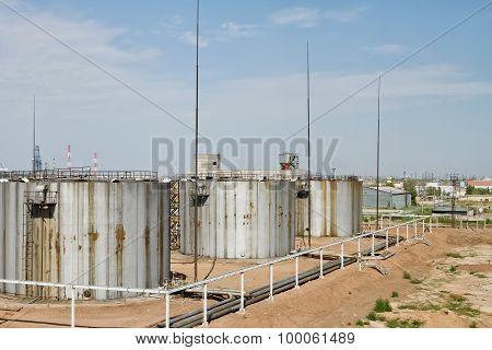 Old Rusty Storage Tanks For Toxic Substances