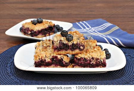 Blueberry Streusel Cookie Bars.
