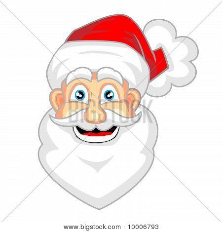 cute face of happy looking santa claus