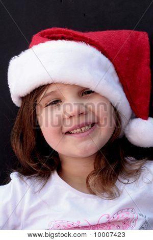 Portrait of little girl at christmas