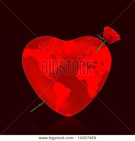 Heart Love Rose