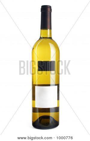 Weiße Weinflasche