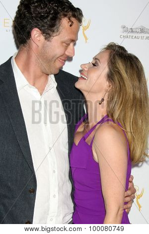LOS ANGELES - AUG 26:  Joel Henricks, Ashley Jones at the Television Academy's Daytime Programming Peer Group Reception at the Montage Hotel on August 26, 2015 in Beverly Hills, CA
