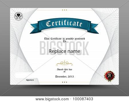Certificate diploma border Certificate template. vector illustration poster