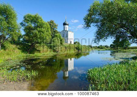 Church Of Intercession On Nerl Near Village Bogolyubovo, Russia