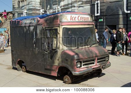 Dismaland Ice Cream Van