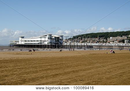 Beach And Grand Pier, Weston-super-mare