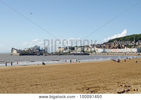 Beach And Old Town, Weston-super--mare