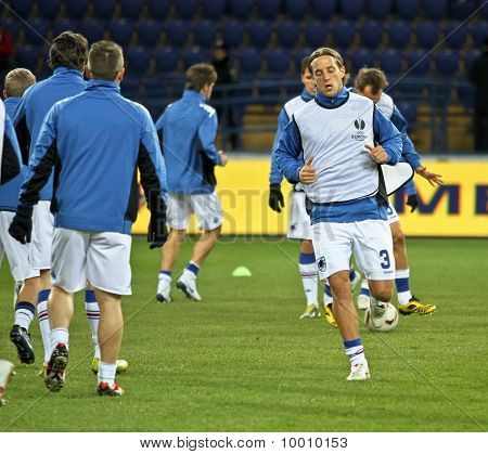 Sampdoria Genoa Players Warming-up