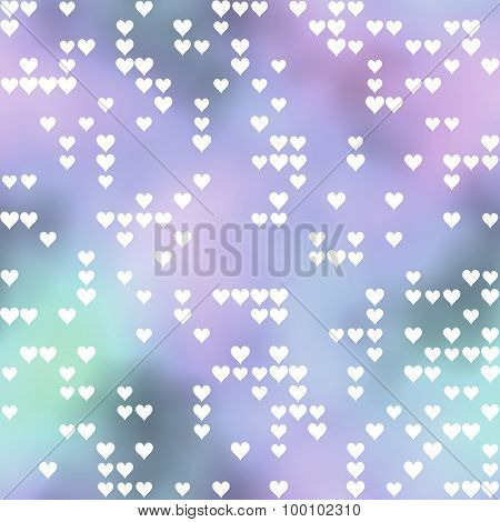 Seamless Pattern With Hearts Motif