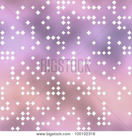 Seamless Pattern With Rhombus Motif On Pink