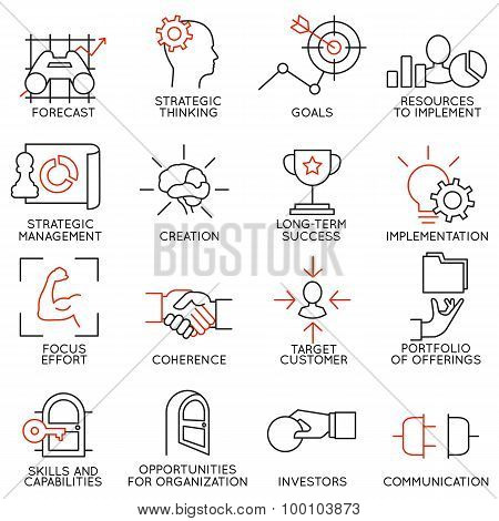 Vector Set Of 16 Icons Related To Business Management - part 2