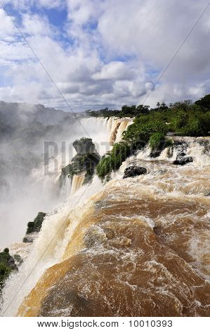 Iguazu waterfalls river view