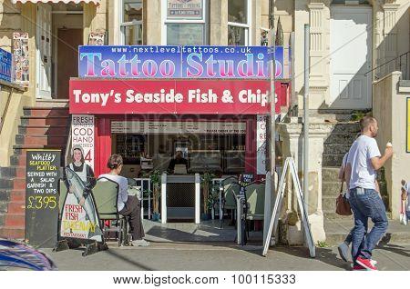 Tattoo And Chips, British Seaside