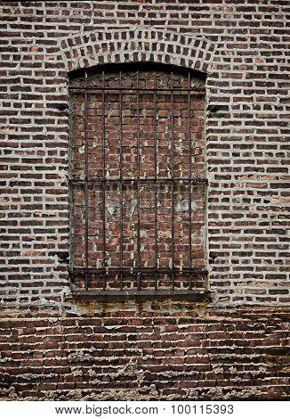 Brick Wall, Barred Window