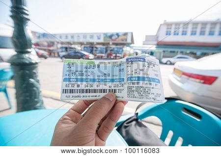 Tourist Show Ticket From Sokcho To Dong Seoul Bus Station.