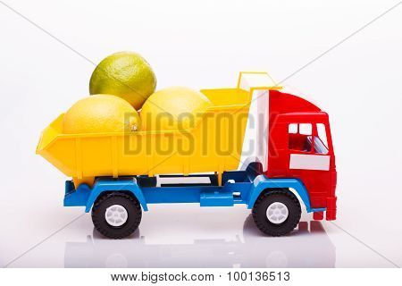 Lemons And Lime On Lorry