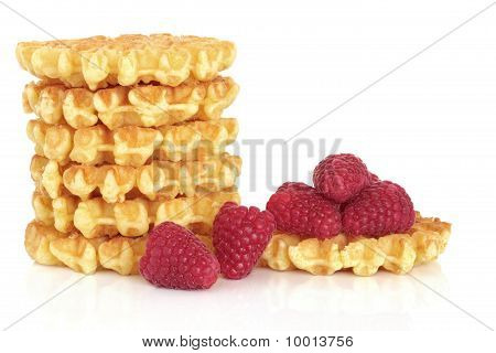 Waffles And Raspberry Fruit