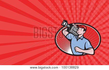 Business Card Cameraman Film Crew Carry Camera