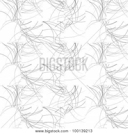 Wavy Lines Repeatable Pattern. Black And White Vector Background